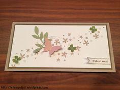 Geburtstag eleganter Schmetterling Glitzerpapier Blüten