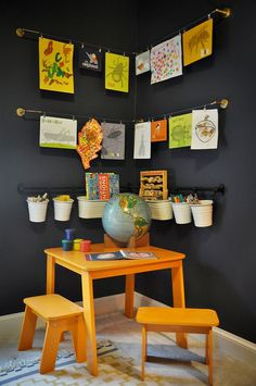 Easy way to turn the corner into a homework station in the kids' room - Decoist