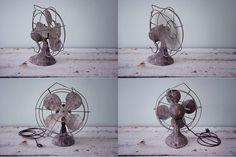 Vintage rough industrial electric fan par Pigeonatelier sur Etsy