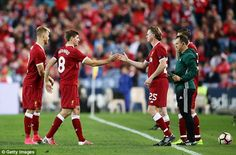 Steven Gerrard played for the Reds in a pre-season friendly in Sydney on Wednesday Dominic King, Steven Gerrard, Liverpool Fc, For Stars, Great Places, Wednesday, Sydney, Football, Sports