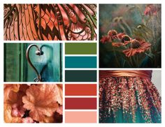 #40 :: teal + green + copper pink Beautiful deep colors...Where could I use this???