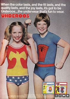 OMG, I loved my Underoos!  I had the wonder woman set!