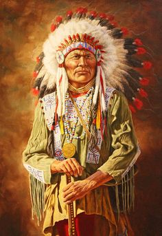 A Native American Chief jigsaw puzzle in People puzzles on TheJigsawPuzzles.com