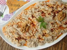 A Delicious Appetizer From Circassians to Our Table: Circassian Chicken - Fingerfood Slow Food, Beef Recipes, Salad Recipes, Chicken Thighs Mushrooms, Turkish Recipes, Ethnic Recipes, Best Breakfast Recipes, Salad Bar, Fruit Salad