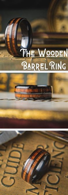 Men's Wooden Barrel Ring – Men's Unique Wedding Rings! Men's wooden barrel ring. Crafted out of high tech ceramic and inlaid with natural koa wood. This unique mens wedding ring is super tough and super comfy. Barrel Rings, Wood Rings, Wedding Men, Cake Wedding, Men Wedding Rings, Mens Wooden Wedding Bands, Wedding Venues, Wedding Nails, Wedding Blog