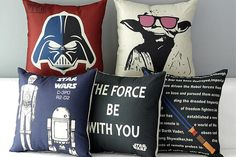 May the 4th be with you! We've got tons of Stars Wars home decor for great deals. These Star Wars pillow covers are 50% off at pickyourplum.com