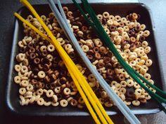 Cheerio Bird Feeders for Kids to Make