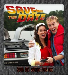 Back to the Future Wedding Save The Dates (Photo Credit: Shift-4 Photography)