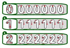 bandes chiffres Handwriting Numbers, Nice Handwriting, Handwriting Practice, Calligraphy Handwriting, Eyfs Activities, Work Activities, Prewriting Skills, Busy Boxes, Pre Writing