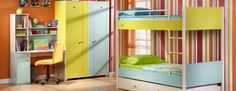Çilek Çocuk Odası. Bunk beds with a trundle. Future shared room?