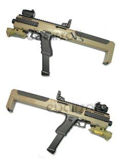 EbairSoft Airsoft parts & Tactical Gear - AABB HR style GLOCK Carbine Conversion Kit ( DE ) AB109