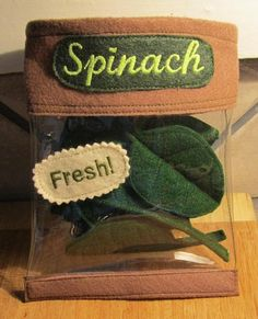 Felt Toys Fresh Spinach Set with Storage Bag Felt by SevenFeathersTribe, $20.00