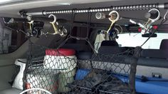 Fishing Rod Holders by 28. -- Homemade fishing rod holders constructed from PVC pipe and an aluminum hanger rod. http://www.homemadetools.net/homemade-fishing-rod-holders-2