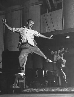 Fred Astaire in rehearsal.