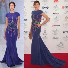 #nievesalvarez looks breathtaking in #georgeshobeika Couture