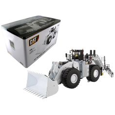 CAT Caterpillar 994K Wheel Loader with Coal Bucket in White with Operator High Line Series 1-50 Diecast Model by Diecast Masters