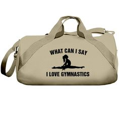 Customized gymnastics bag you can also personalize with the name on the back if you choose. Gymnastics Bags, Gymnastics Leotards, I Said, Duffel Bag, Canning, Sayings, My Love, Liberty, Barrel