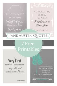 Jane Austen Free Printable Quotes                        http://domesticallyblissful.com/jane-austen-free-printable-quotes/                                             #JaneAusten #Quote #Printable
