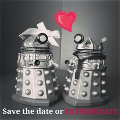 Fantastic Wedding Invite #Dalek #wedding #love #doctorwho #fandom