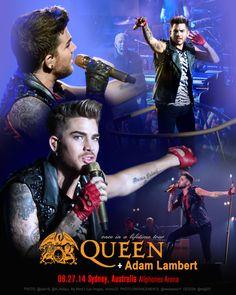 08.27.14 Sydney, Australia Allphones Arena @QueenWillRock + @adamlambert.