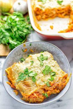 Buffalo Cauliflower Lasagna - Contentedness Cooking