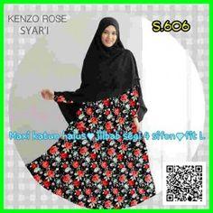 grosir baju kenzo rose syar'i S606