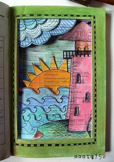 altered book - latarnia morska/lighthouse, via Flickr. So nice to see some refreshing originality these days! Kudos to the artist!