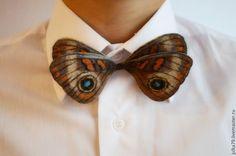 Купить Бабочка галстук - бежевый, бабочка на шею, бабочка галстук, бабочка, бабочки, бабочка из шерсти