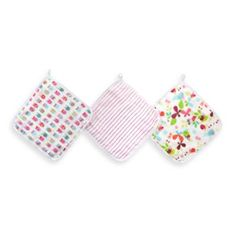 aden™ by aden + anais® for Zutano 3-Pack Washcloth in Walk in the Park - buybuyBaby.com