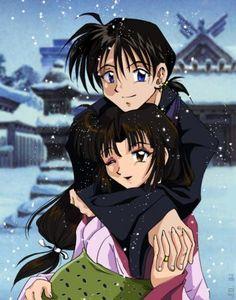 Miro hugging a pregnant Sango in the snow. Winter is so beautiful. Miroku, Japanese Mythology, Fred, Inuyasha, Anime Love, Fairy Tales, Anime Art, Manga, Creative