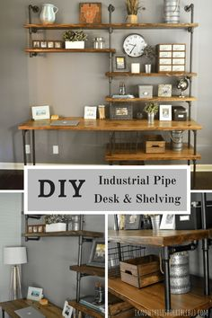 DIY RH Industrial Desk and Shelving