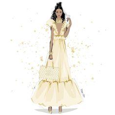 Coffee and Chanel Megan Hess Illustration, Illustration Artists, Fashion Illustrations, Art Illustrations, Gold Fashion, Fashion Art, Fashion Models, Kerrie Hess, Fashion Model Sketch