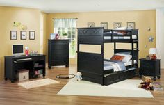 Homelegance Sanibel Bunk Bedroom Set - Black Price: $1,581.00