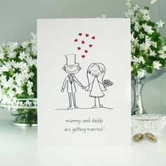 Mummy And Daddy Are Getting Married Pre Printed Wedding Invitations Pk10 By Olivia Samuel