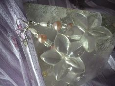 Bridal Pink Freshwater Pearl Lucite by AtticAntiquesVintage, $20.00