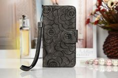 Coque CHANEL cuir forme d'un sac personnalisée dessin fleurs iphone 5 6 6plus