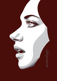 Imogen Poots by sergemalivert on DeviantArt Vector Portrait, Portrait Art, Portrait Illustration, Digital Illustration, Vector Character, Pop Art Images, Imogen Poots, Art Simple, Art Vintage