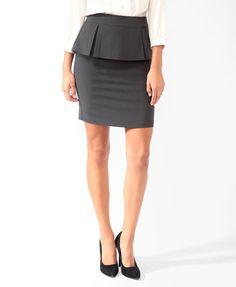 Pleated Peplum Skirt | FOREVER 21 - 2025101502