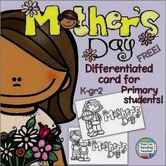 Mother's Day card #free! Differentiate by printing various strips for the inside! PreK-1