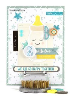 Card Share: It's a Boy (Crate Paper Little You Boy) by Lisa Swift (FYC All Boy mini flair)