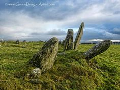 Beltany Stone Circle, County Donegal, Ireland by GreenDragonArtist #ireland