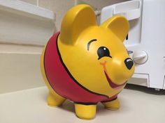Winnie the Pooh Hand Painted Ceramic Piggy Bank Medium Winnie Poo, Winnie The Pooh Quotes, Large Piggy Bank, Pig Bank, Personalized Piggy Bank, Martha Stewart Crafts, Money Box, Dragon, Class Projects