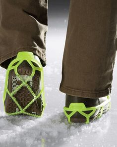 walk on snow or ice with confidence...might start needing these for english winters!