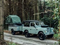 Land Rover 88 Series 3 Soft Top . Trailer Camper- Heritage.
