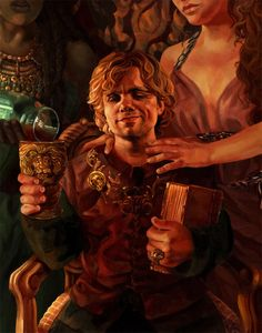 """Acrylic and Ink on 300 lb Hot Press Watercolour Paper. Photoshop CS5 Character Tyrion Lannister from George R.R. Martin's """"A Song of Ice and Fire"""" fantasy series. """"My brother has his sword, King Ro..."""