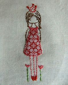 Little girl embroidery