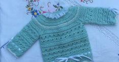 JERSEY DE LANA VERDE AGUA TALLA PRIMERA POSTURA Material Lana especial bebé marca Katia Peques For Baby (color 84947, tintada 8...