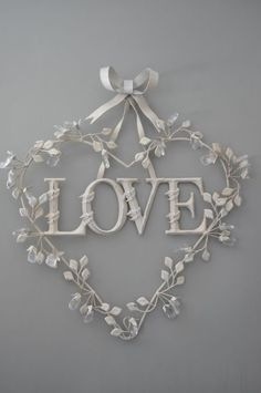 Love Heart Wreath - Valentine's Day or Weddings I Love Heart, My Heart, Heart Art, Heart Wreath, Be My Valentine, Valentine Wreath, Printable Valentine, Homemade Valentines, Valentine Ideas