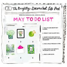 May 2017 to do list | www.evelynhenson.com