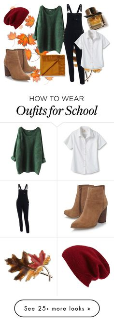 """""""Untitled #374"""" by muscle-gurl on Polyvore featuring Anne Klein, Burberry, Lands' End, Nine West and Halogen"""